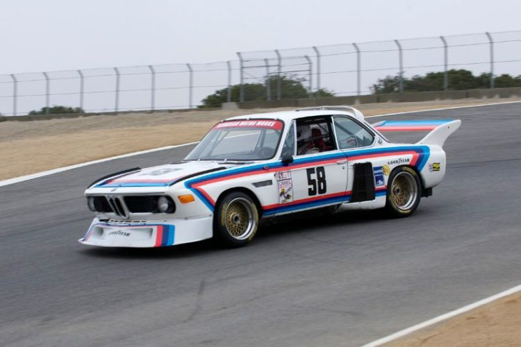 Henry Schmitt in his 1974 BMW 3.5CSL Batmobile.