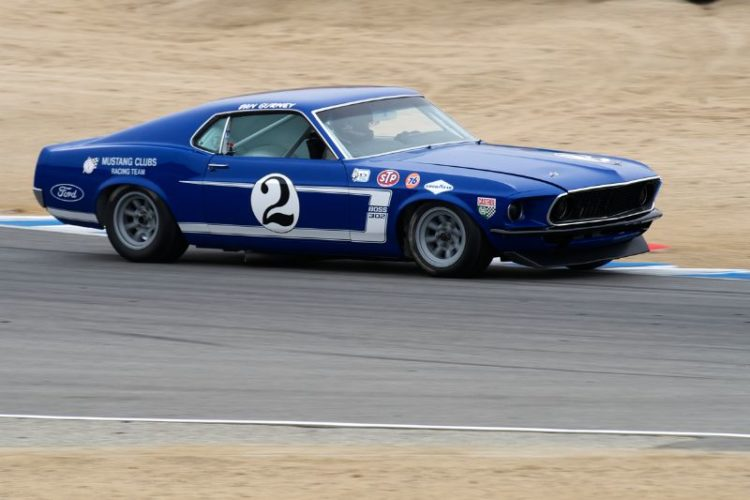Bruce Canepa in his Ford Boss 302 Mustang.