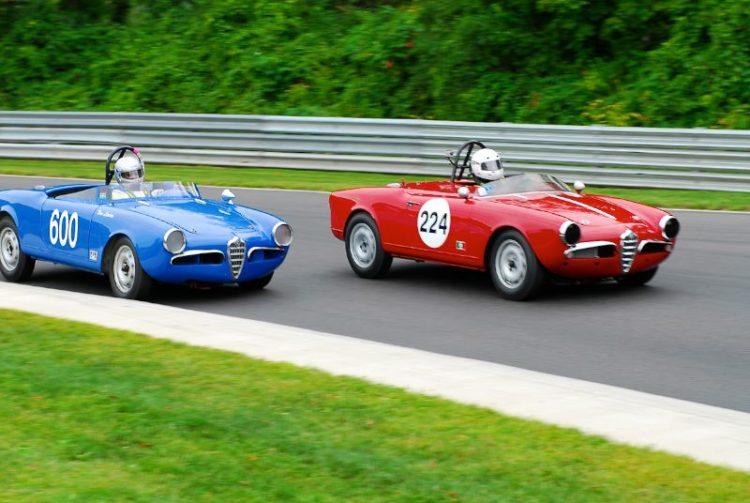 #224 - 1959 Alfa Romeo Giulietta - Vince Vaccaro, #600 - 1957 Alfa Romeo Veloce Spider- Tom Larson.