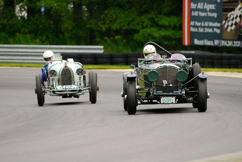 1935 Bentley 3.5 - Nils Westberg and 1929 Bugatti Type 37A - Tom Clifford.