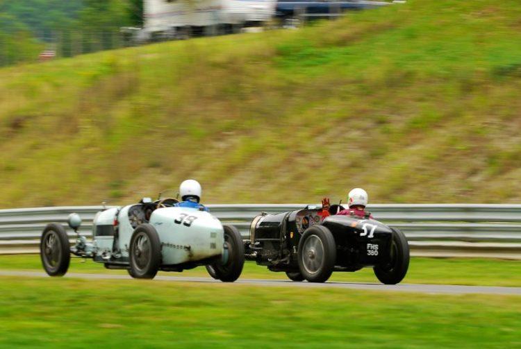 1925 Bugatti Type 39 - David Hands,  #51 - 1932 Bugatti Type 51 - Charles Dean.