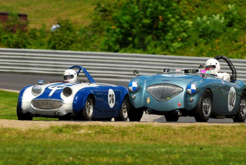 1956 Austin-Healey 100/4 BN2- Rick Neves- #76- 1959 Austin-Healey Sprite - John Travers.