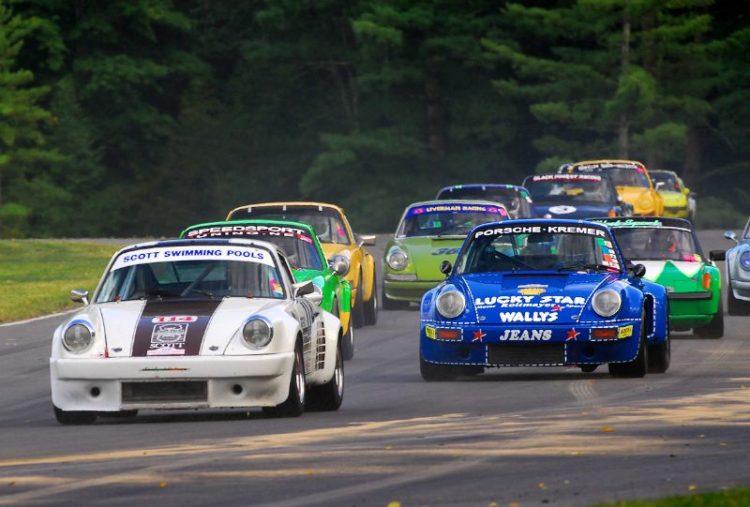 1974 Porsche 911- #114- Jim Scott- #6- 1974 Porsche RSR- Robert Newman.