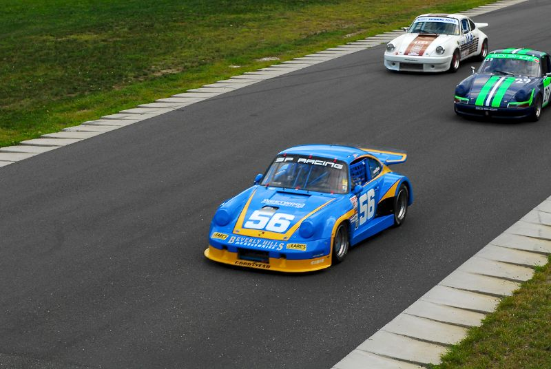 1972 Porsche RSR- John Brice- #29- 1972 911- Roger Johnson- #114- 1974 911- Jim Scott.