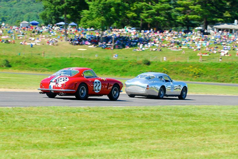 1960 Ferrari 250 GT SWB - Robert Bodin and 1959 Aston Martin DB4 - Herb Wetanson.