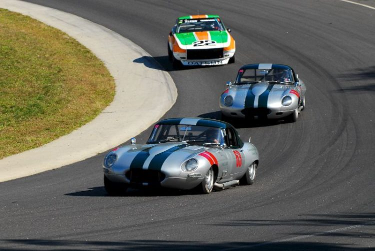 1965 Jaguar XKE - Wilson Wright, 1962 Jaguar XKE - Jack Busch and 1973 Datsun 280Z - Martin Handshy.