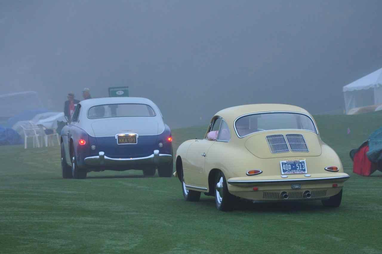 Cunningham C3 and Porsche 356