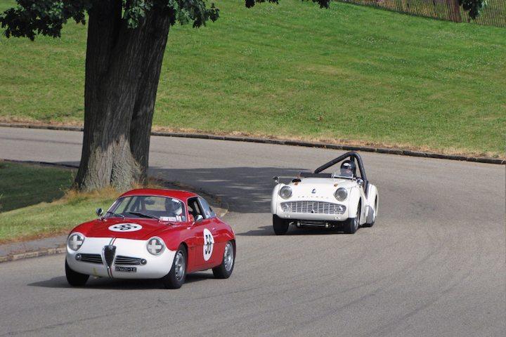 1960 Alfa Romeo Giulietta SZ and 1959 Triumph TR3