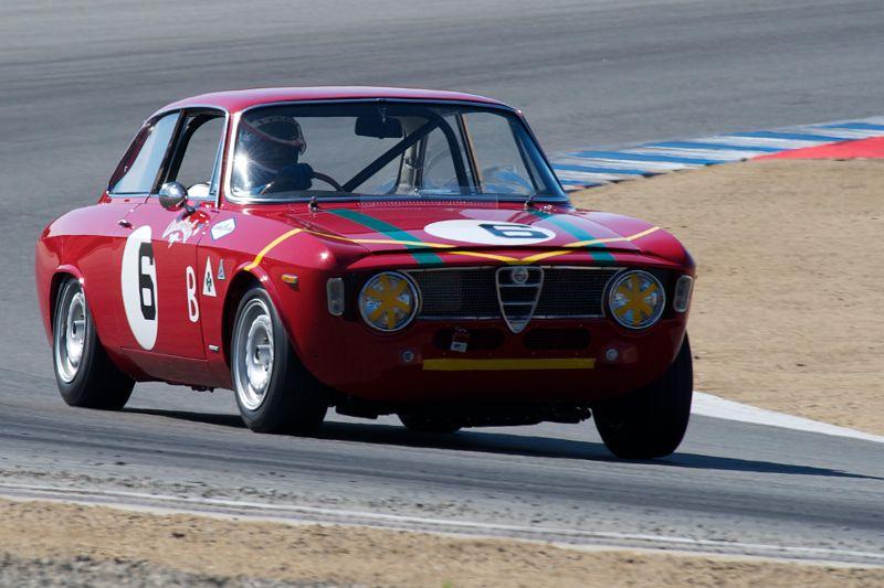 Bob Lee in his 1965 Alfa Romeo GTA.