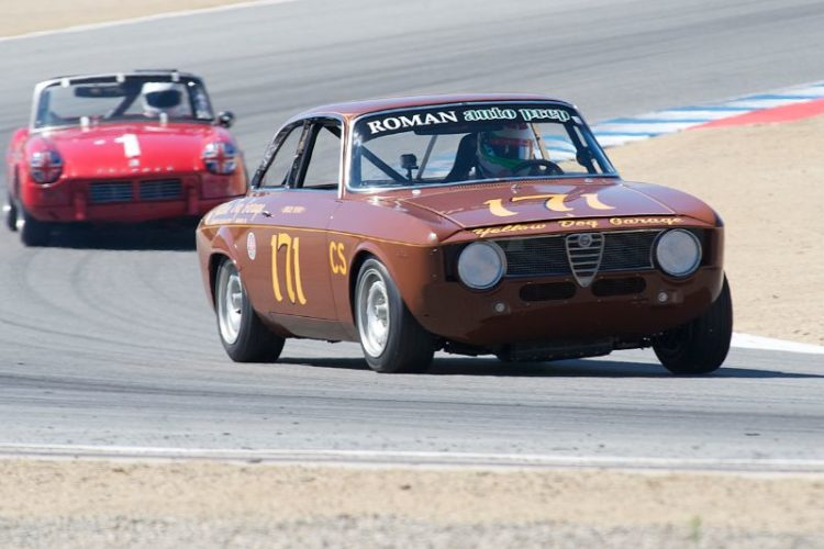 Eliseo Carrillo's brown 1965 Alfa Romeo GTA.
