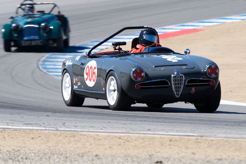 Peter Inshaw in his 1963 Alfa Romeo Giulia 1600.