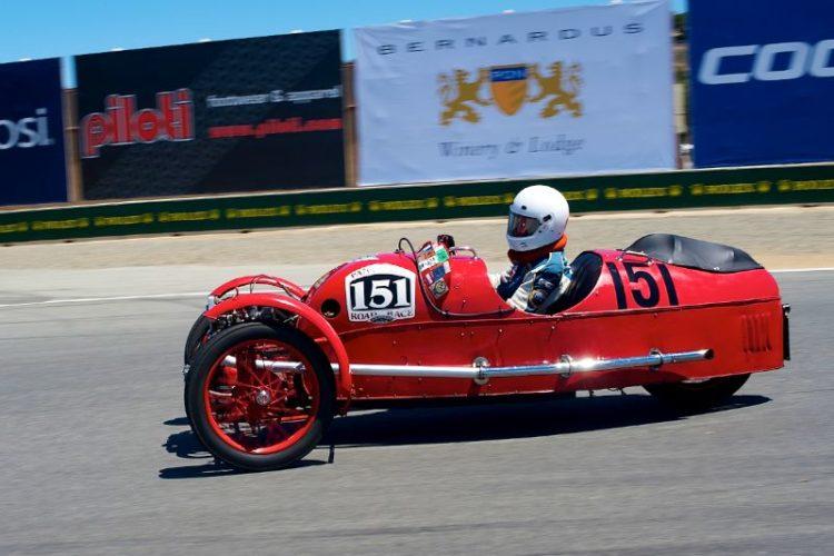 Larry Ayers in his 1930 Morgan 3-Wheeler.