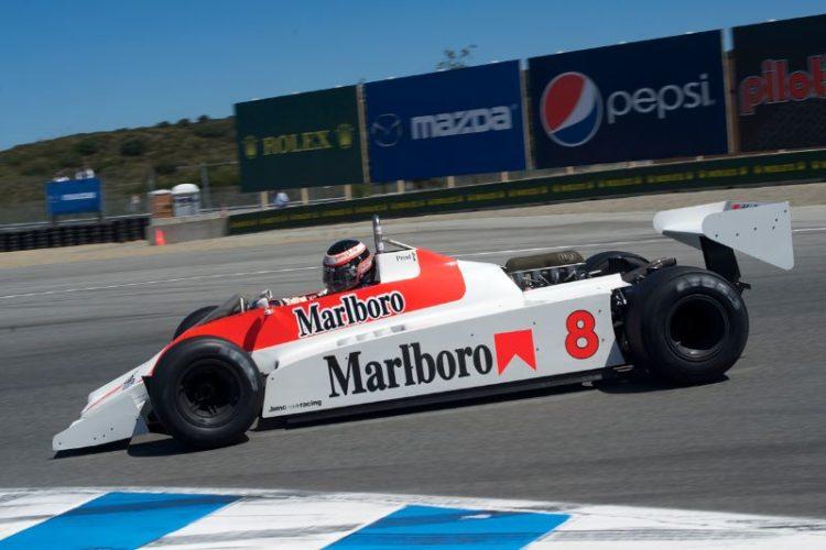 Sean Allen's 1980 McLaren M30 in turn eleven.