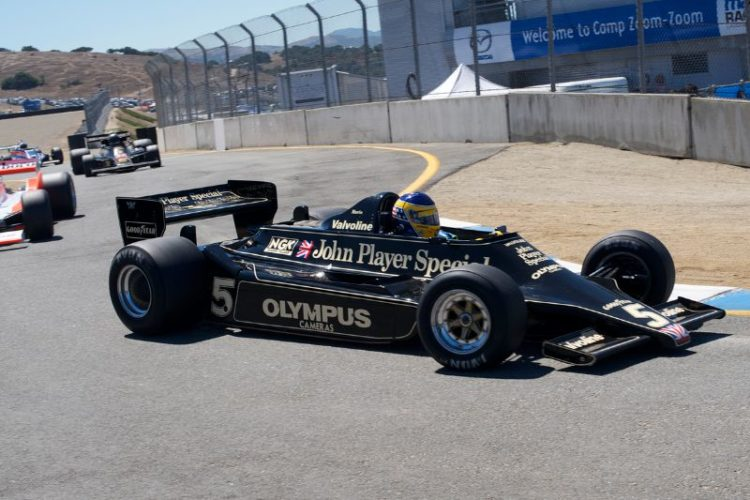 Duncan Dayton enters the pits in his Lotus 79.