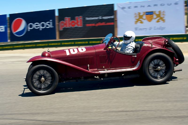 Shawn Thomas in his 1932 Alfa Romeo 8C 2300 MM.