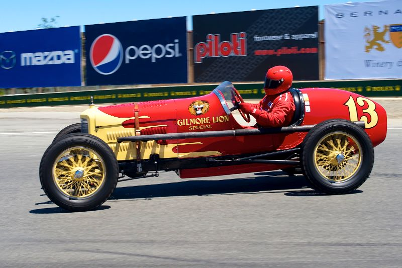 Pat Phinny in his Gilmore Lion Special 28 Ford Indy Car.