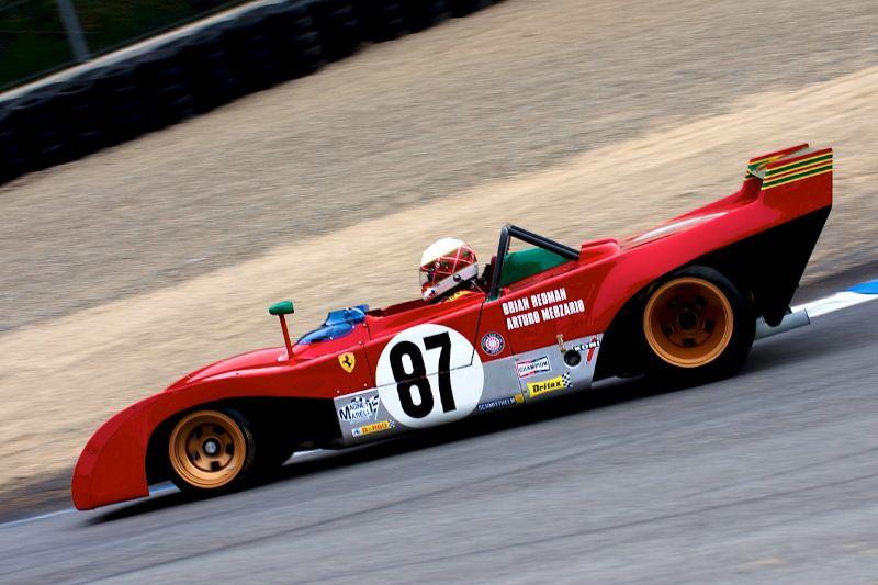 Steven Read down the Corkscrew in his 1970 Ferrari 312 PB.