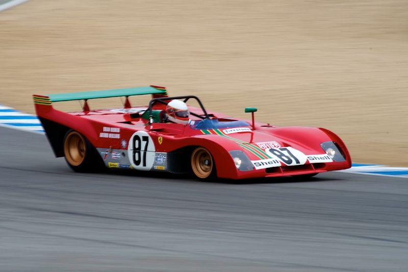 Steven Read through turn 5 in his 1970 Ferrari 312 PB.