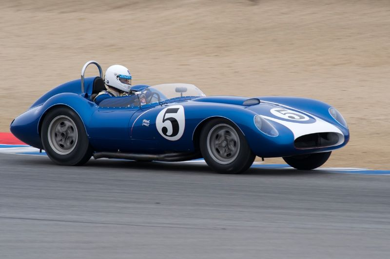 John Morton in the 1958 Scarab Sports Racer.