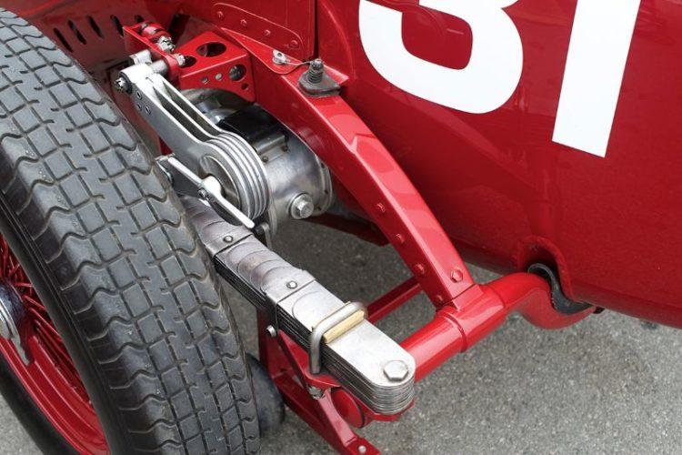 Left rear suspension on Giddings' 1930 Alfa Romeo Tipo B P3.
