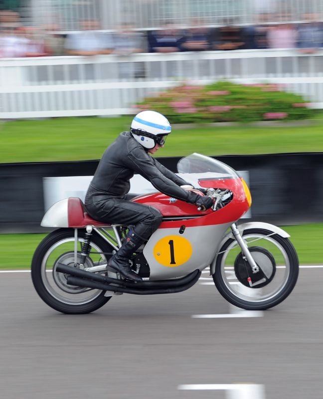 John Surtees on the MV Agusta at Goodwood Revival 2010
