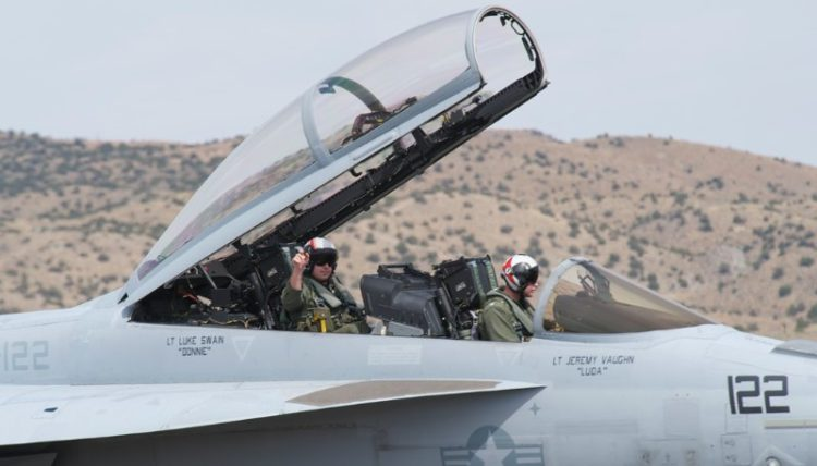 USN F-18 . These two put on a real show.
