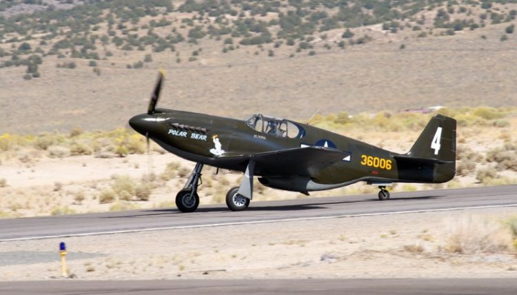 Unlimited. P-51A Mustang, 'Polar Bear'. Dave Morss.
