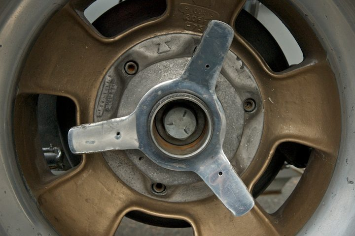 1948 Kutis Midget alloy wheel detail