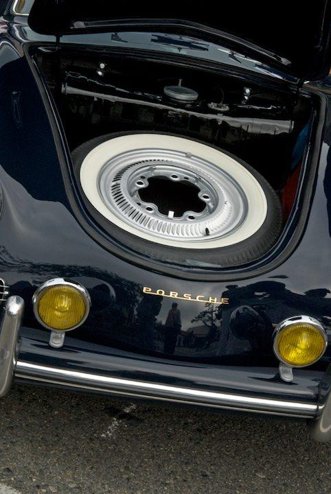 Storage space in a 1959 Porsche 356A