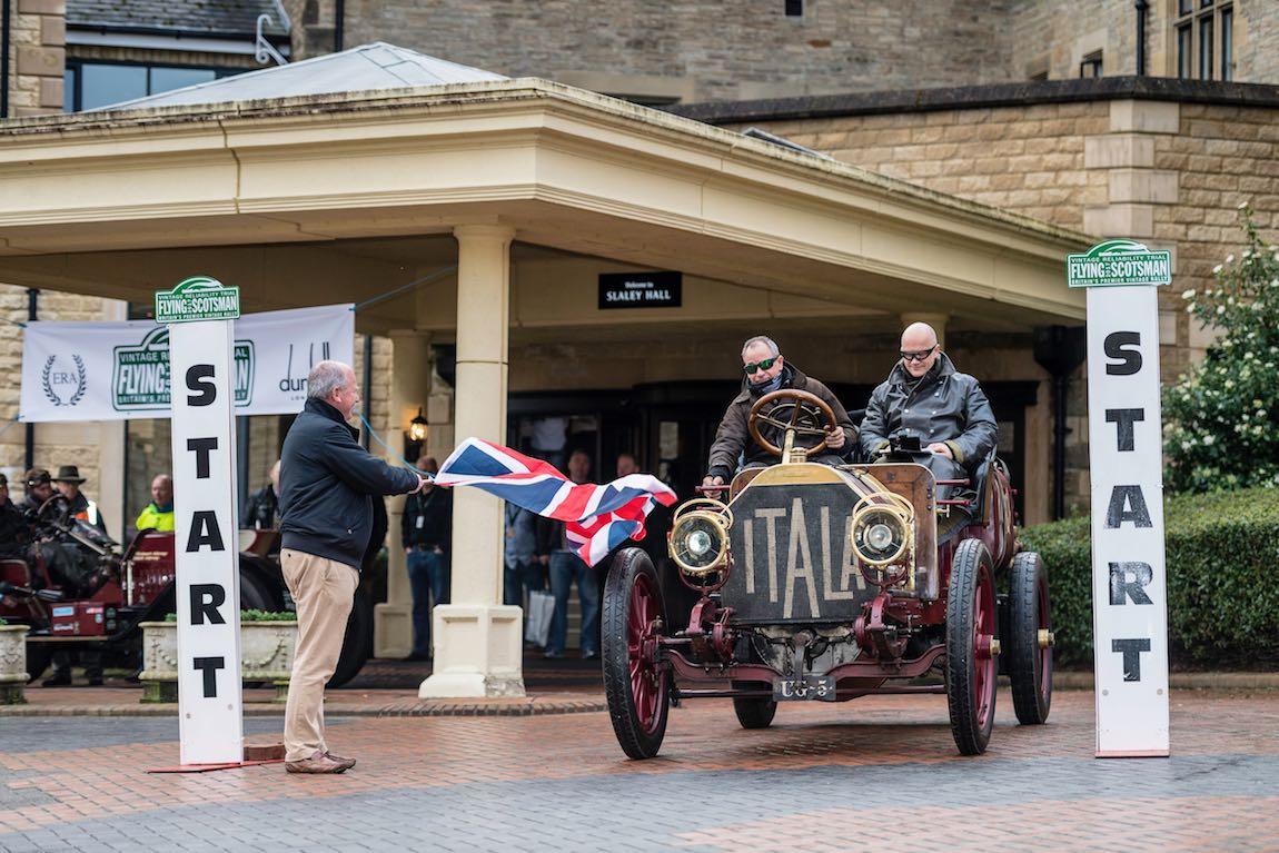 Car 01. David Ayre (GB) / Anthony Thompson (GB)1907 Itala 40, Flying Scotsman 2017, Slaley Hall - Dalmahoy, The start