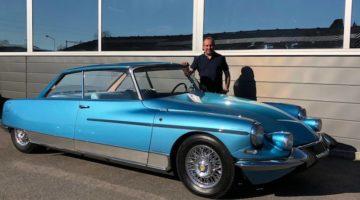 1966 Citroen DS 21 Chapron Le Leman Coupe with restorer Vincent Crescia.