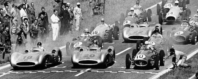 Start of the 1954 French Grand Prix