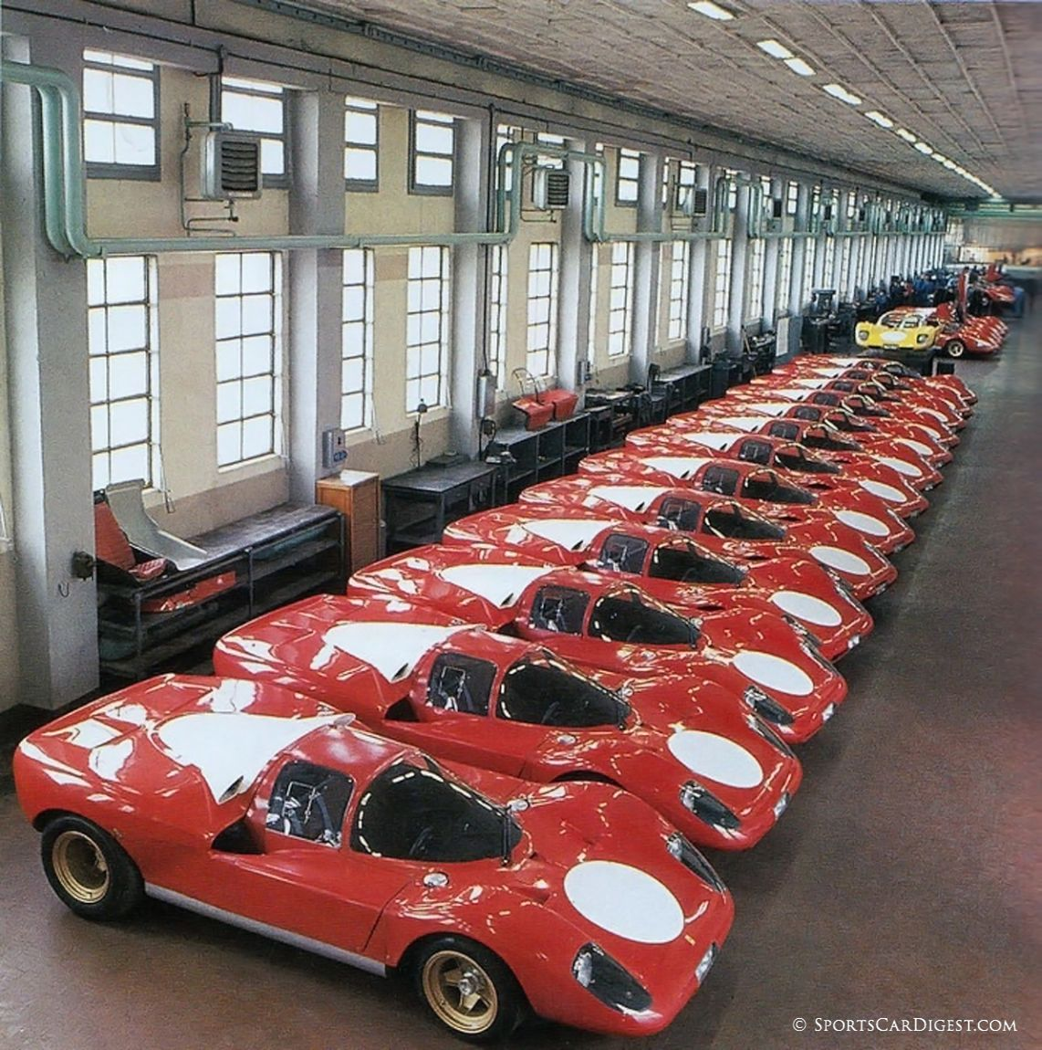ferrari 512s lined up at the factory for fia homologation in late 1969 ferrari s p a photo sports car digest the sports racing and vintage car journal ferrari 512s lined up at the factory