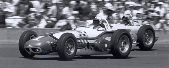 4-time Indianapolis 500 winner A.J. Foyt on the way to his first victory in 1961.