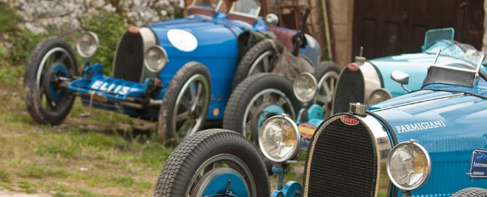Bugatti T35 line-up at International Bugatti Meeting
