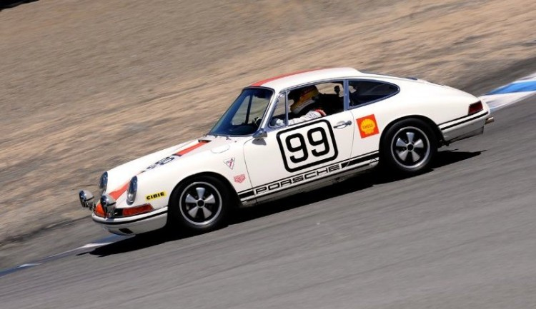 Porsche 911S down Corkscrew at Laguna Seca
