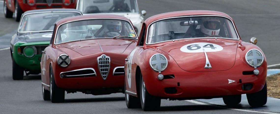 Joseph Rossi leads the pack in the 1964 Porsche 356 C