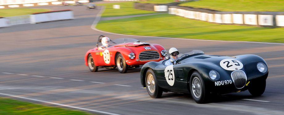 Jaguar C-Type at the Goodwood Revival