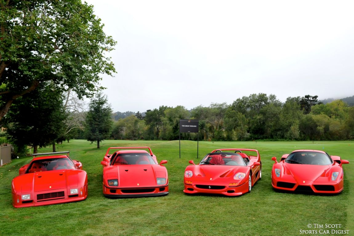 Ferrari 288 Gto Evoluzione Ferrari F40 Ferrari F50 And Ferrari Enzo Sports Car Digest The Sports Racing And Vintage Car Journal