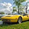 Fly Yellow Ferrari 328 on the field at the inaugural Castaway Critters Exotic Car Show