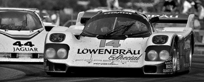 Lowenbrau Special Porsche 962 of Al Holbert at the 1985 24 Hours of Daytona