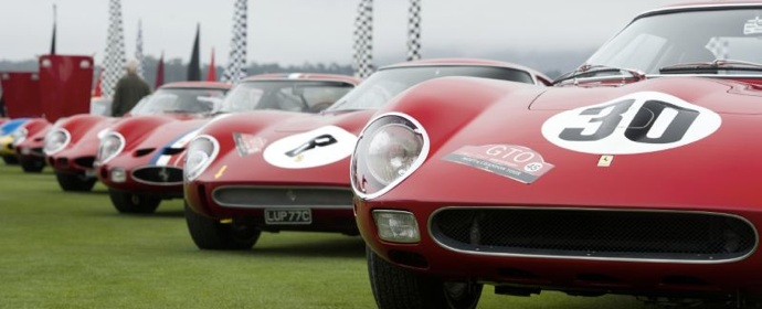 Ferrari 250 GTO Line-up at Pebble Beach Concours d'Elegance 2011