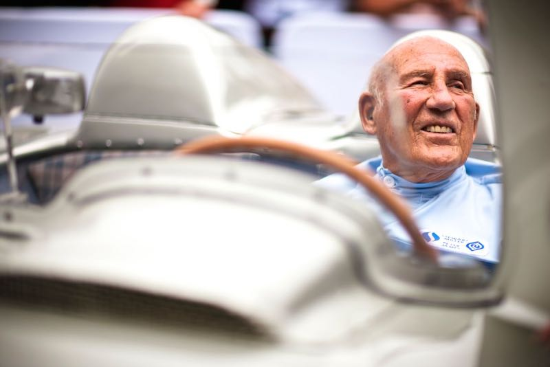 Sir Stirling Moss in the Mercedes-Benz 300 SLR