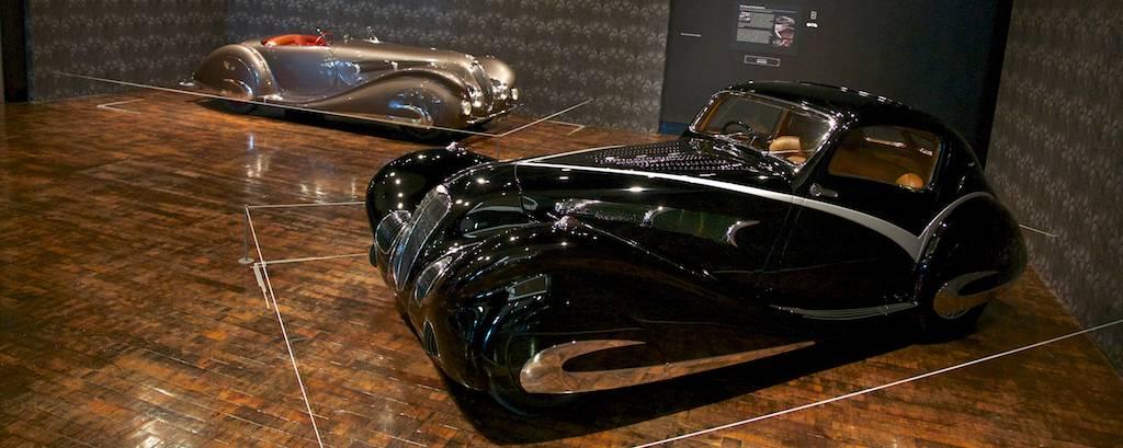 1936 Delahaye 135M Figoni et Falaschi Competition Coupe and 1937 Delahaye 135MS Roadste