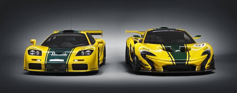 McLaren P1 GTR and McLaren F1 GTR 06R