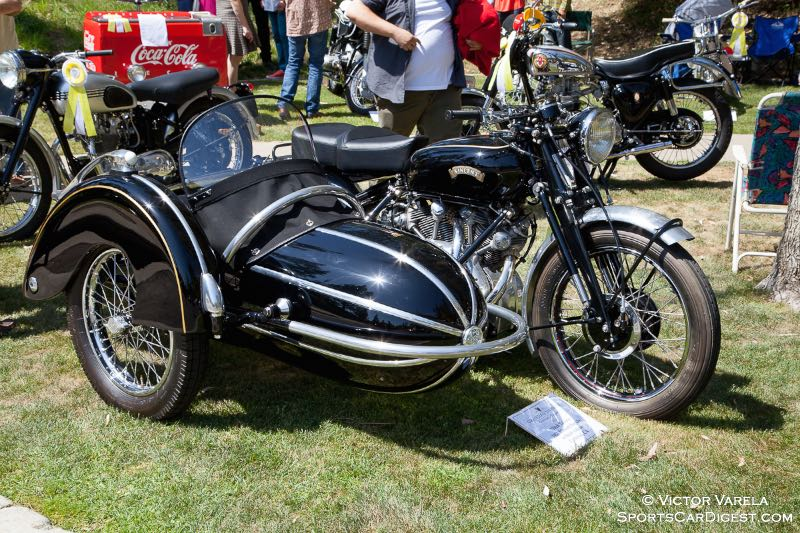 1951 Vincent Rapide w/Steib sidecar - owner Mitch Talcove