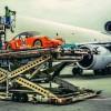 Porsche 911 RSR 3.0 heads into the belly of a Lufthansa cargo plane