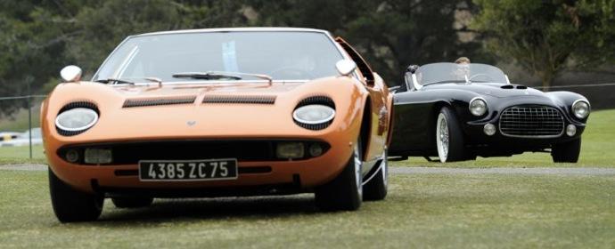 Lamborghini Miura and Ferrari 212/225 Barchetta