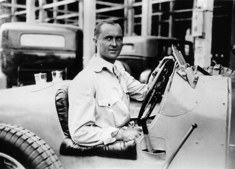 Louis Chiron, the patron of the new Bugatti super sports car, was a Bugatti works driver that won many important victories for the brand from Molsheim.