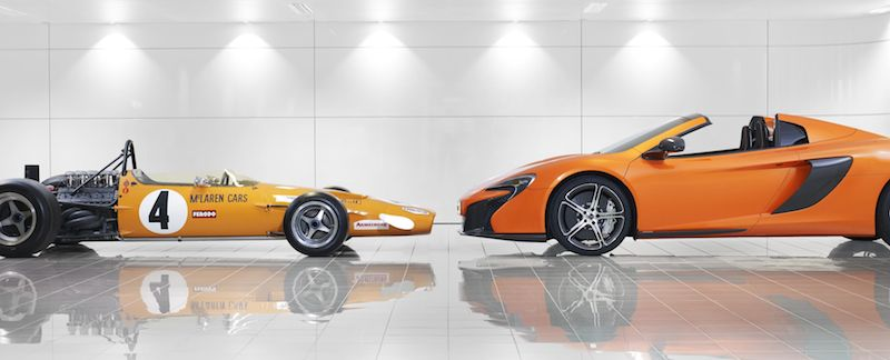 McLaren M7C and McLaren 650S Spider